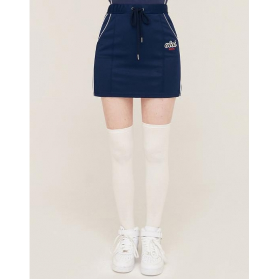 PIPING POINT TRACK SKIRT_NAVY