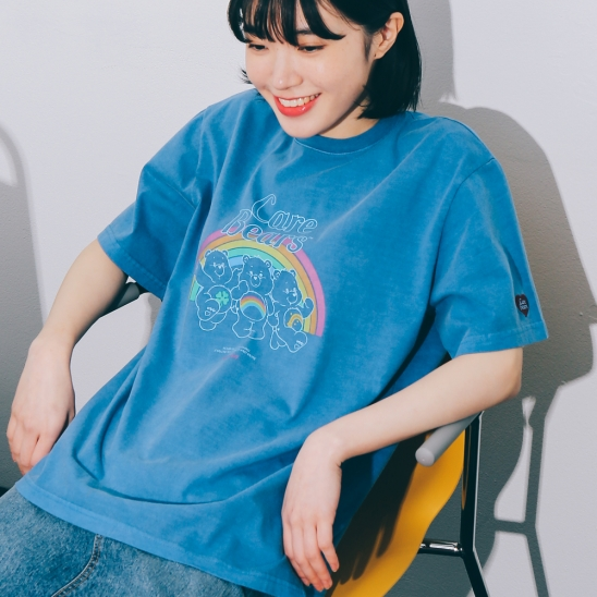 TRIPLE BEARS T-SHIRT PIGMENT BLUE