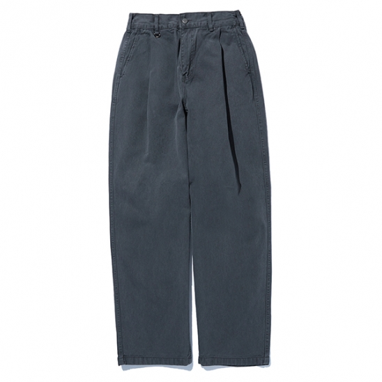 20ELTSM012 Dust Dyeing Wide Pants_Charcoal Gray