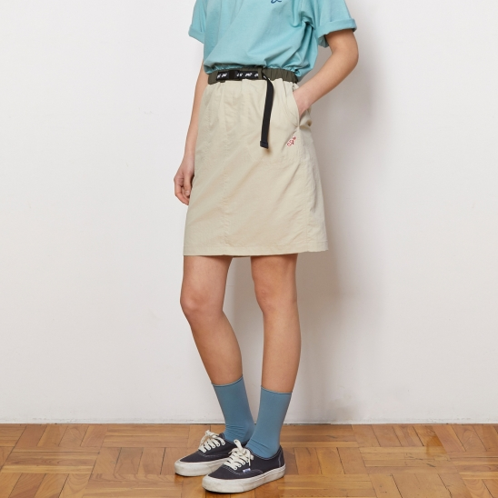 ASK013_Belted Mini Skirt_Beige