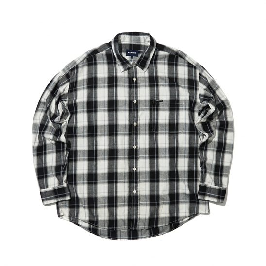 OVERSIZED LS CHECK SHIRT (BLACK)