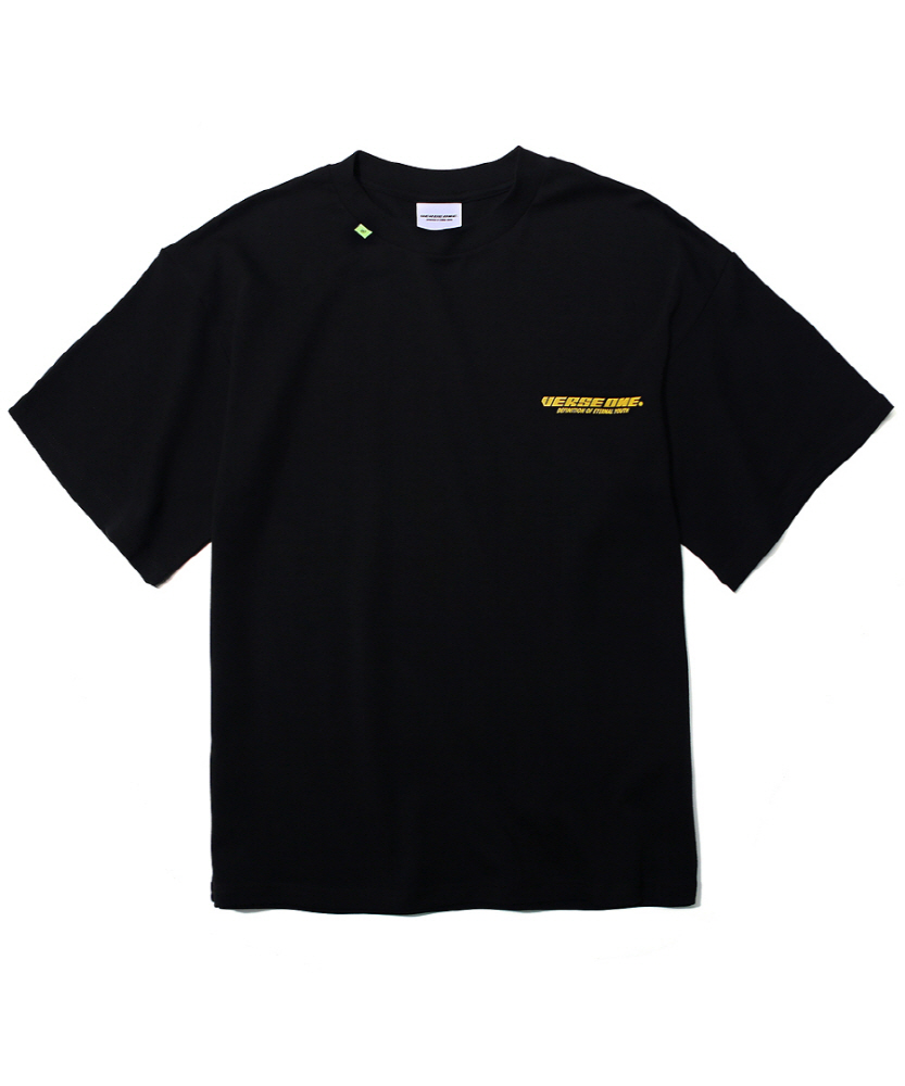 SLOGAN LOGO PRINTED T-SHIRT BLACK