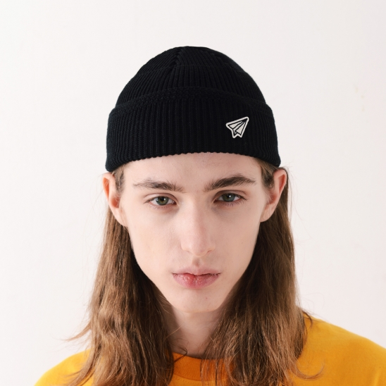 PAPER ICON WATCH CAP (BLACK)
