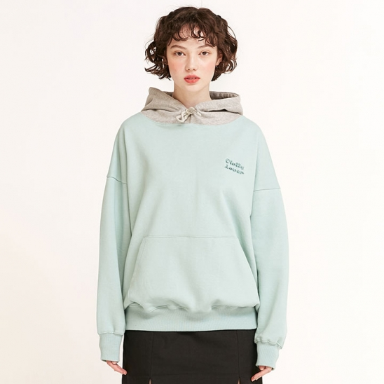 CLOVER COLOR BLOCK HOODIE MINT(CY2ASFM402A)