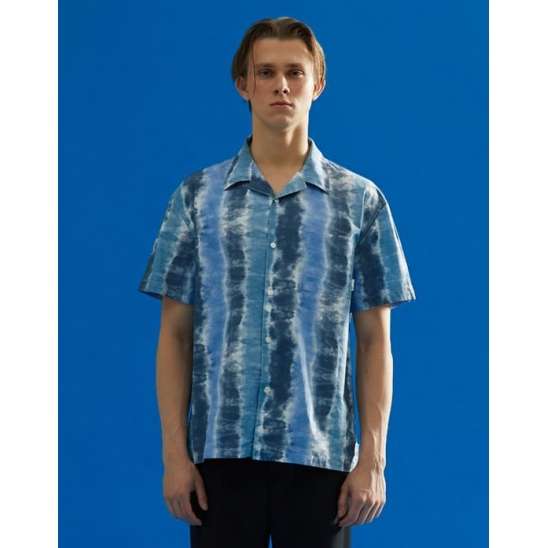 TIE DYED HALF SHIRTS BLUE