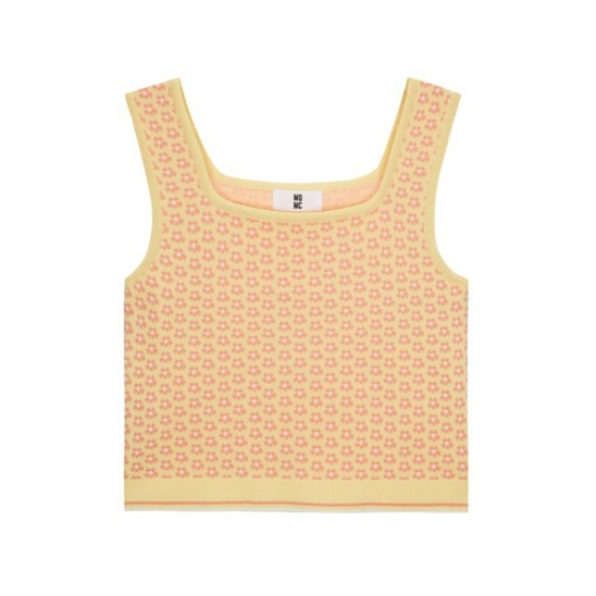 JQD KNIT SLEEVELESS TOP LIGHT YELLOW