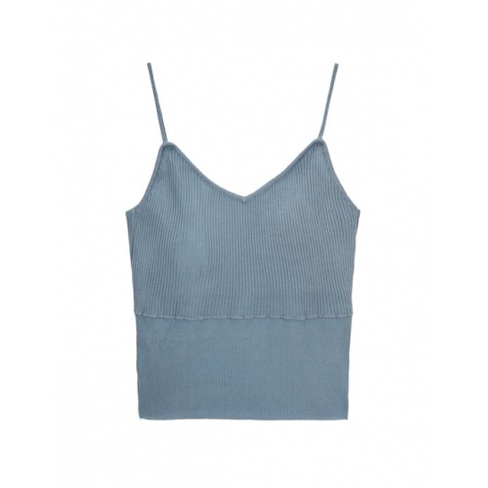 SLEEVELESS TOP LIGHT BLUE