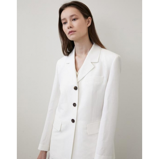[김나영 착용] LINEN SINGLE JACKET WHITE