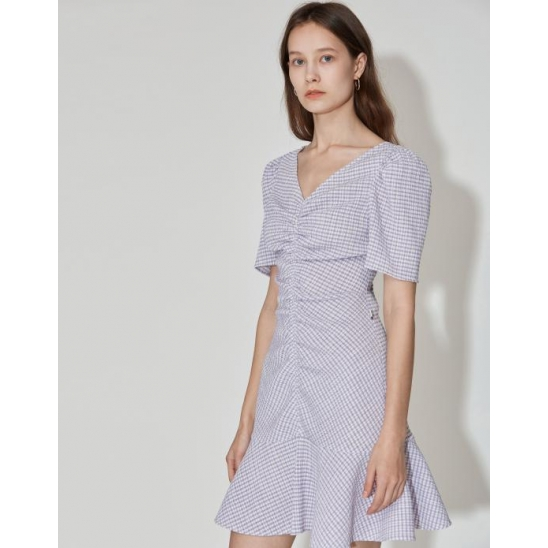 [3차 리오더] Stretch Seersucker Dress [Lavender]