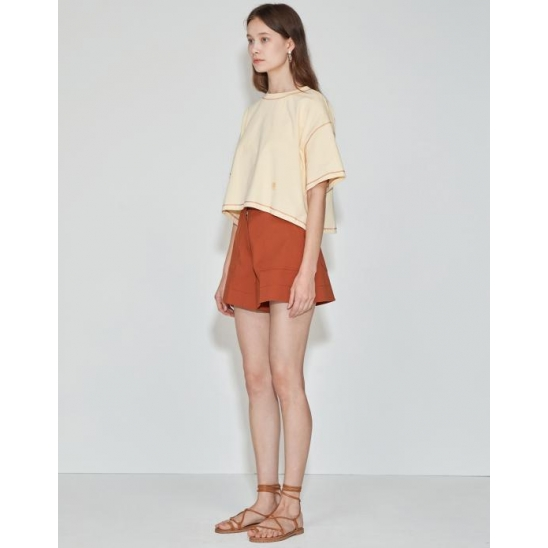Cropped Over T-shirt [Butter Yellow]