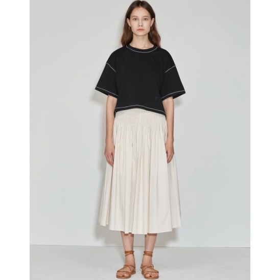 Cropped Over T-shirt [Black]