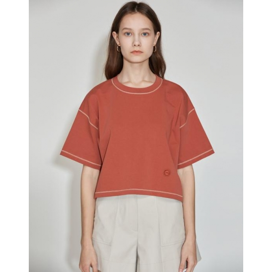 Cropped Over T-shirt [Cienna Brown]
