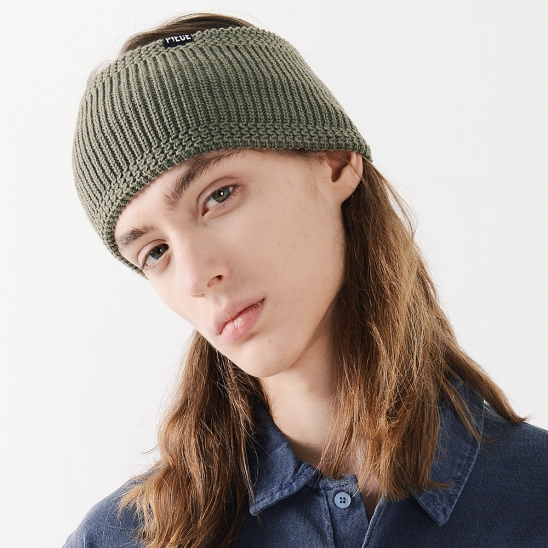 WIDE HAIR BAND (OLIVE)