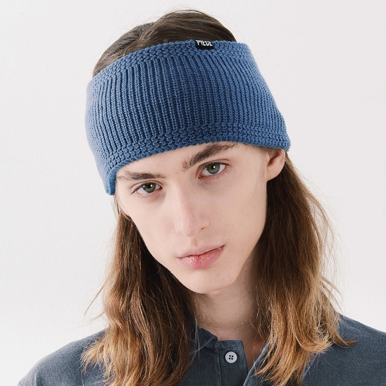WIDE HAIR BAND (NAVY)