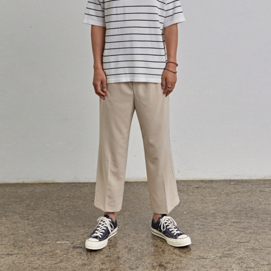 [COUCOU] COMPACT WIDE PANTS_LIGHT BEIGE