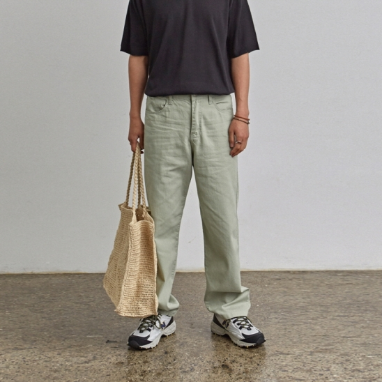 [COUCOU] CASUAL MOOD COTTON PANTS_LIGHT GREEN