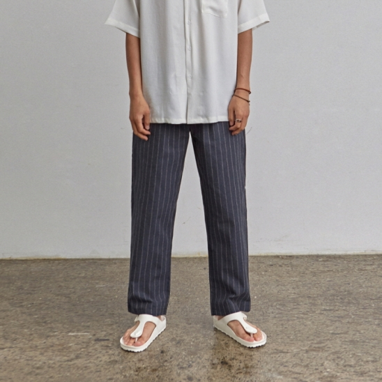 [COUCOU] LOOSE ST STRAIGHT PANTS_NAVY