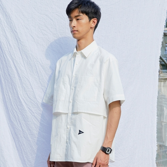 CL089_Over fit flying shirt_White