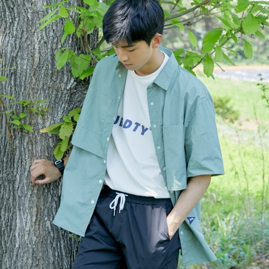CL090_Over fit flying shirt_Khaki