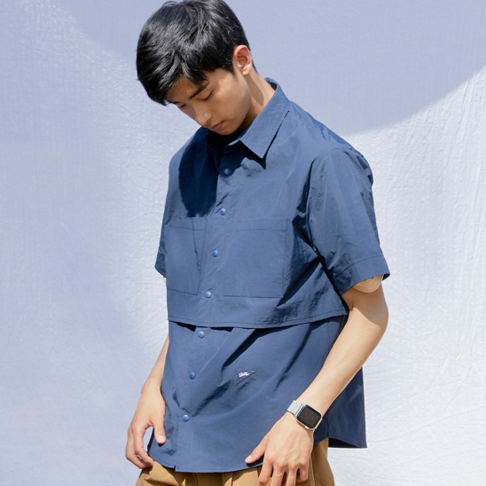 CL092_Over fit flying shirt_Navy