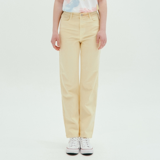 COLOR WIDE PANTS_YELLOW