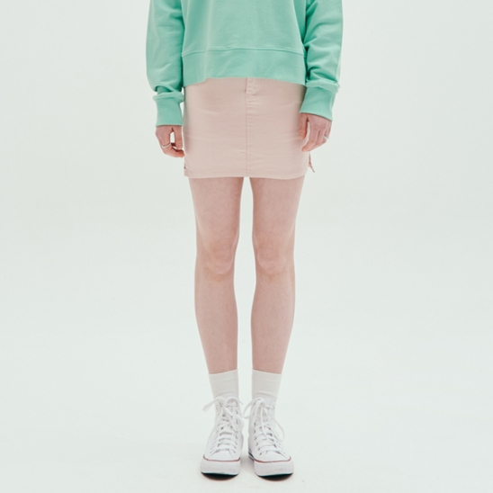 COLOR FITTED SKIRT_PINK