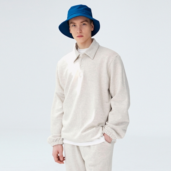 [COUCOU] STRING SWEAT PIQUE SHIRTS_OATEMAL