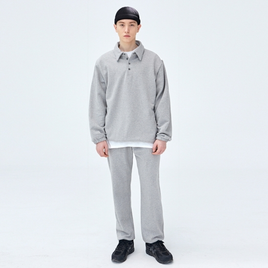 [COUCOU] STRING SWEAT PIQUE SHIRTS SET UP_GRAY