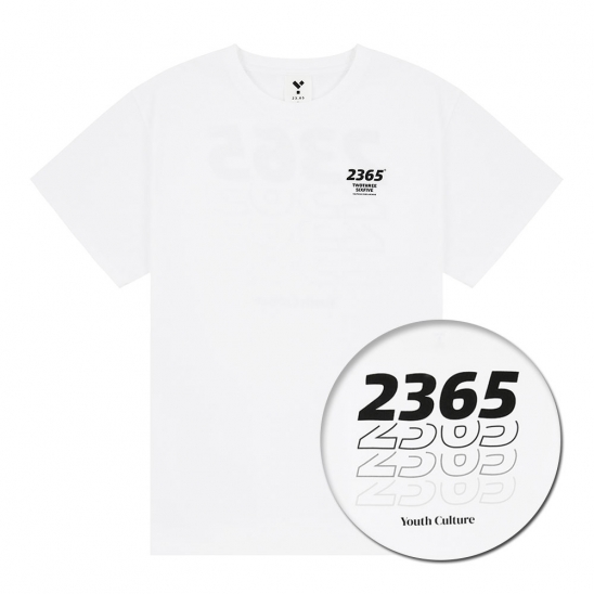 23.65 GRADATION LOGO HALF T-SHIRTS WHITE