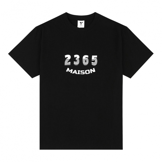23.65 MAISON SHADOW LOGO HALF T-SHIRTS BLACK