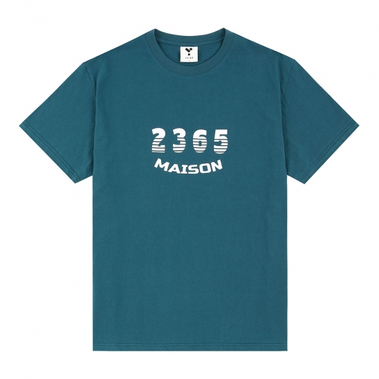 23.65 MAISON SHADOW LOGO HALF T-SHIRTS BLUE