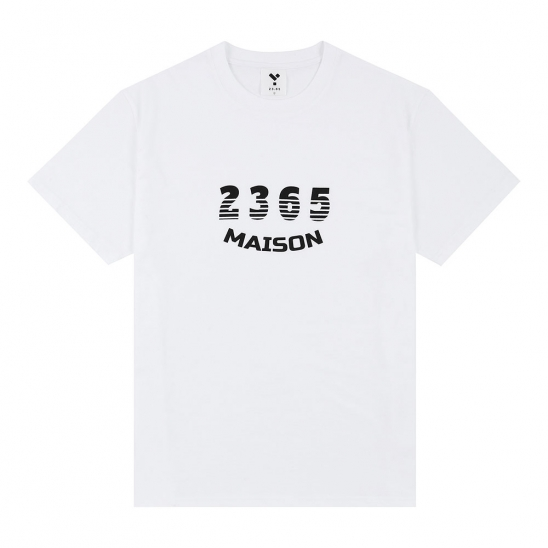 23.65 MAISON SHADOW LOGO HALF T-SHIRTS WHITE