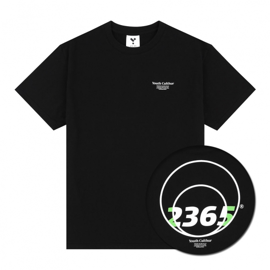 23.65 CIRCLE LOGO HALF T-SHIRTS BLACK