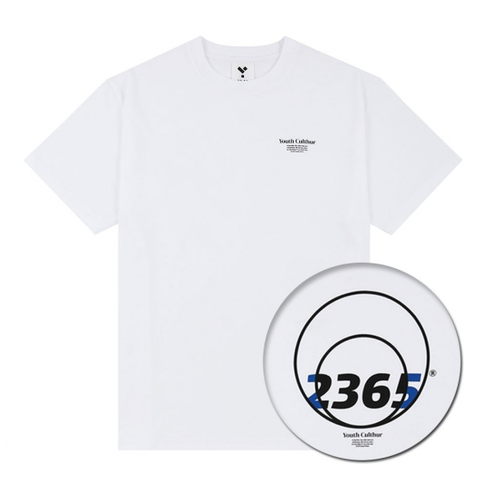 23.65 CIRCLE LOGO HALF T-SHIRTS WHITE