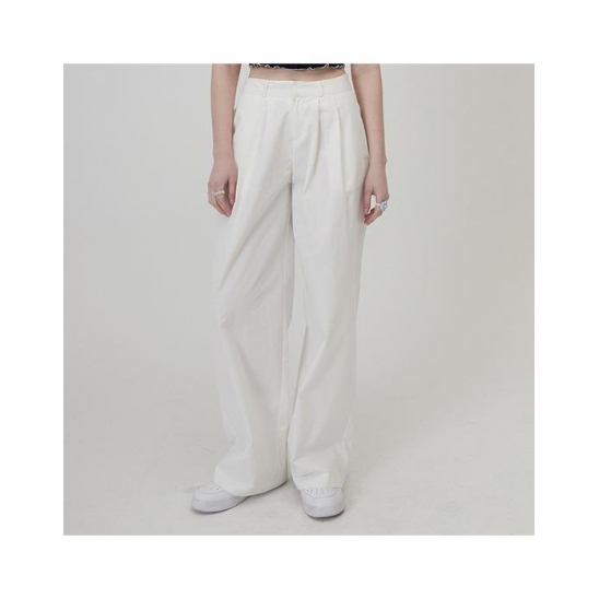 MG0S TWO TUCK WIDE PANTS (WHITE)