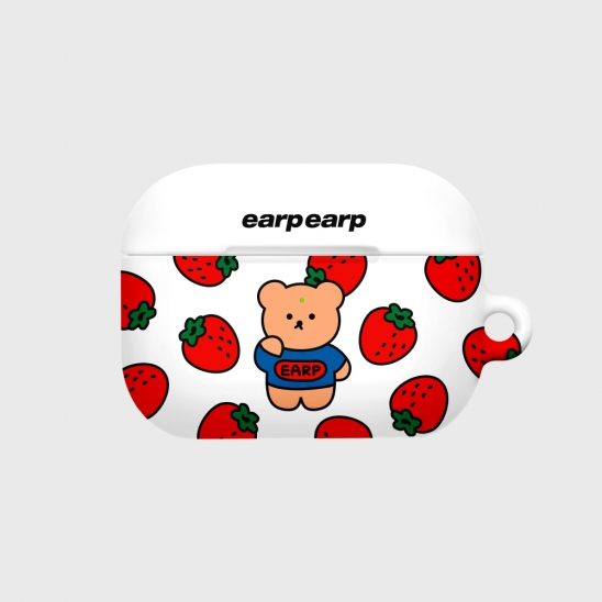strawberry bear-white(Hard air pods pro)