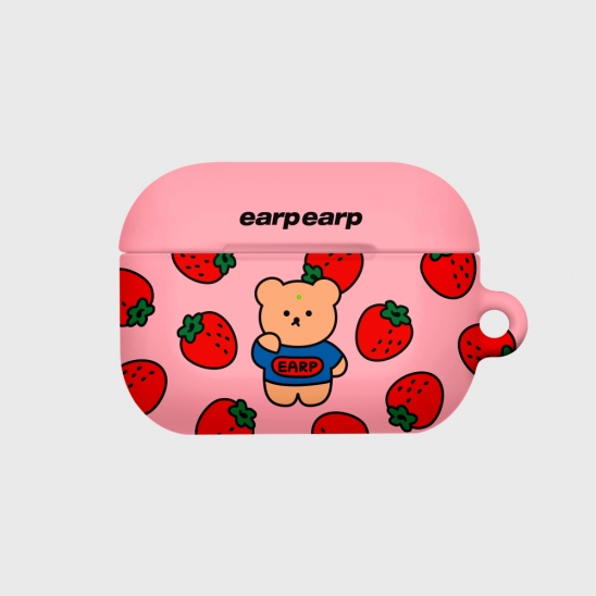 strawberry bear-pink(Hard air pods pro)