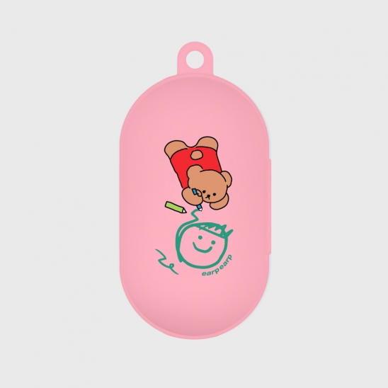 Doodle bear-pink(buds jelly case)