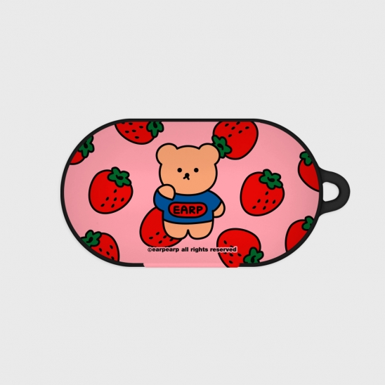 strawberry bear-pink(Buds hard case)