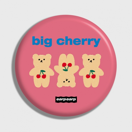 Three cherry big bear-pink(거울)