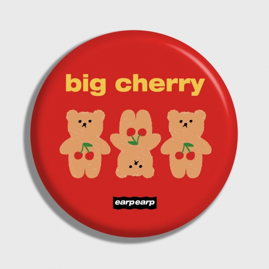 Three cherry big bear-red(거울)