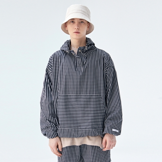[COUCOU] TRAINING TRACK ANORAK_BLACK CHECK