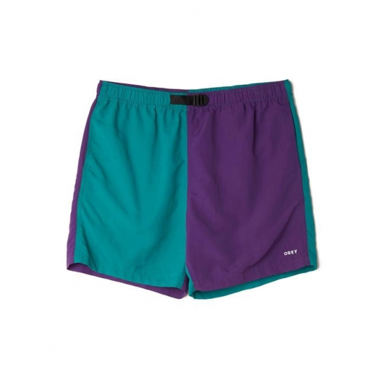 EASY RELAXED RECESS SHORT TEAL MULTI