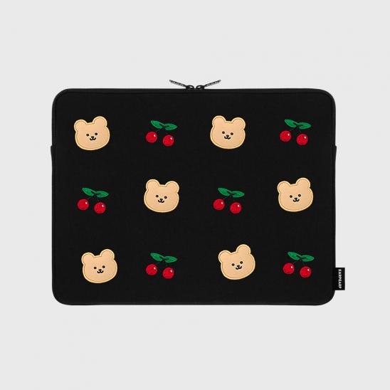 Dot cherry bear-13inch notebook pouch(13인치노트북 파우치)