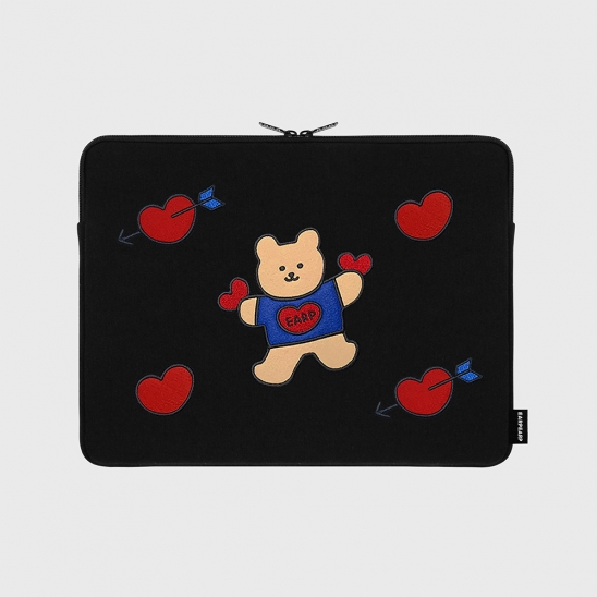 Bear heart-13inch notebook pouch(13인치노트북 파우치)