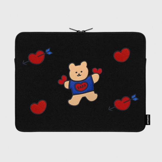 Bear heart-15inch notebook pouch(15인치노트북 파우치)