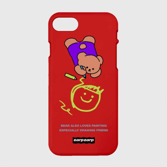 Doodle bear-red(color jelly)