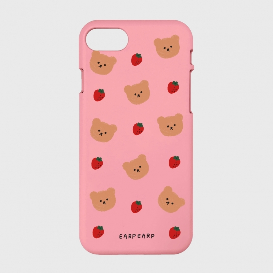 Dot strawberry bear-pink(color jelly)