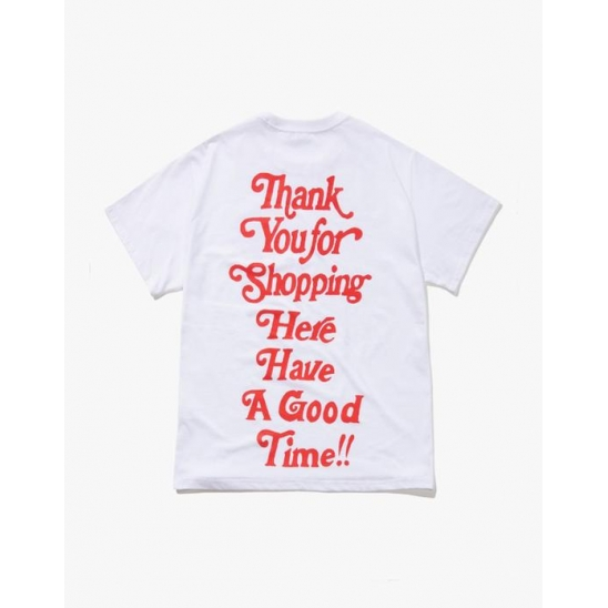 THANK YOU FOR SHOPPING S/S TEE-WHITE