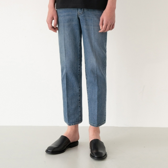 GL Tapered Crop Jeans - Dark Blue / Tapered